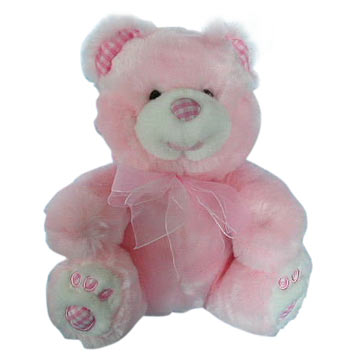 Bears with Pink Ribbon