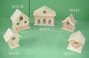 wood bird house, wooden pet house