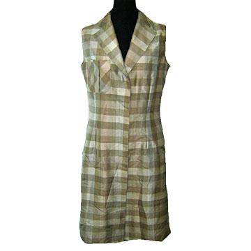 100% Silk Yarn Dyed Dress