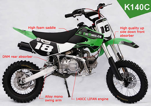 Bigminis K140c Dirt Bike