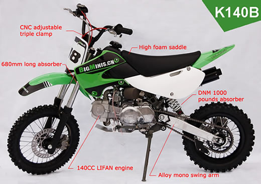 Bigminis K140b Dirt Bike