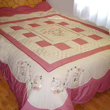 Hand Made Flower and Patchwork Quilt Sets