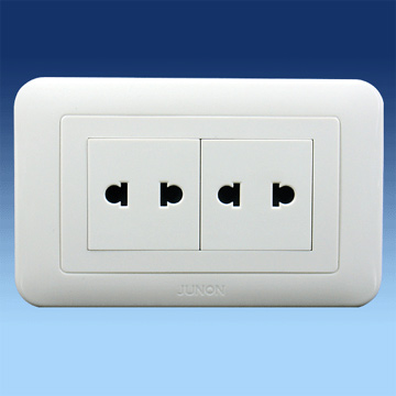 Twin Two Pin Universal Sockets