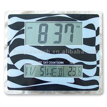 LCD Glass Clock