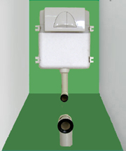 concealed cistern(suit for standing floor lavatory)