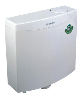 sanitary ware: toilet plastic cistern