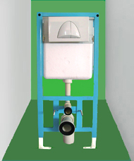 sanitary ware: toilet concealed cistern