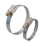 German type worm drive hose clamp