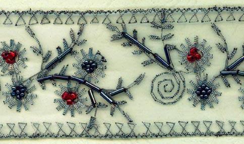 sequin organza lace