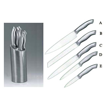 5pcs Knife Set in Hollow Handles
