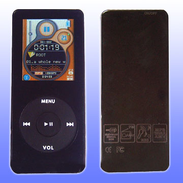 MP4 player with 1.8 Inch TFT Screen