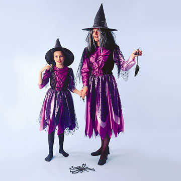 Halloween Witch Costumes W- Hats