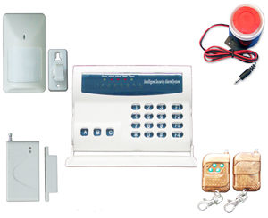 Intelligent wireless & wire burglar alarm system