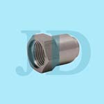 stainless steel SUS304 custom made hex head coupling nut with internal threads processed by CNC precision turning