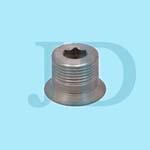 OEM SS steel flange adaptor with male thread for fastener