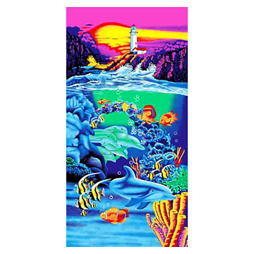 Reactive Printed Beach Towels