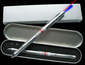 Laser pointer with PDA and ball point LED