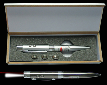 Laser pointer with ball point pen