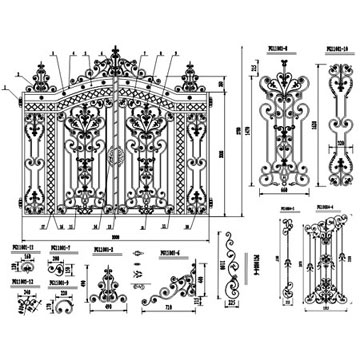 Iron Door Autocad on victorian style door s