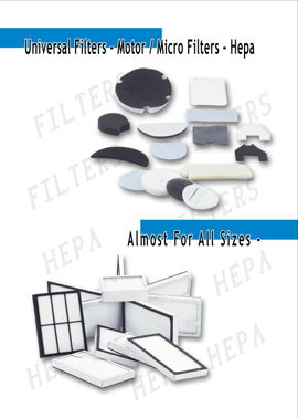 Heap filter for vacuum cleaner