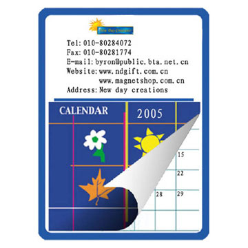Magnetic Tear-Off Calendars