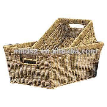Sea grass knitted basket