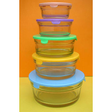 5pcs Glass Cooking Bowls Sets