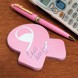 Breast Cancer Ribbon Sticky Notes.