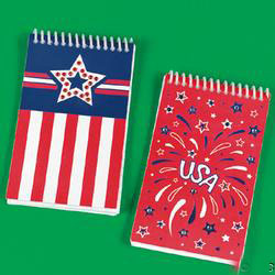 Patriotic Spiral Notepads with Jewels