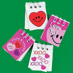 Mini Spiral Valentine Notepads