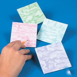 Camouflage Sticky Notes