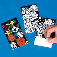 Color-Your-Own Fuzzy Notepads