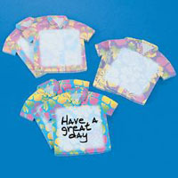 Tropical Shirt Sticky Notes