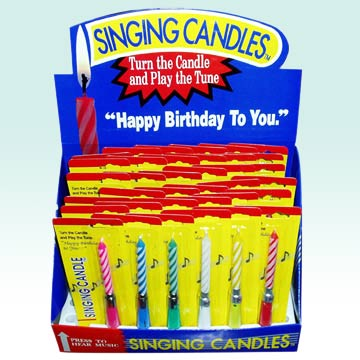 Music Birthday Candles