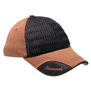 Mesh and Cotton Baseball Cap