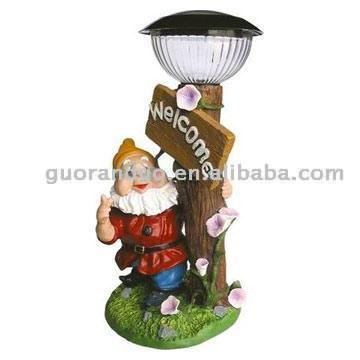 Welcome Solar Garden Lamp Crafts