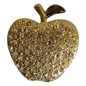 Casting Gold Apple Pins
