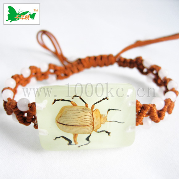 Insect amber jewelry-Bracelet