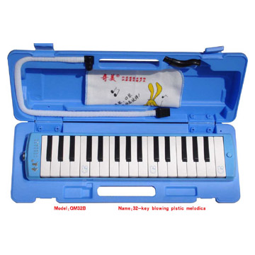 32-Key Wooden Grain Melodicas