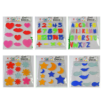 Window stickers gel toys