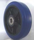 blue elastic rubber wheel