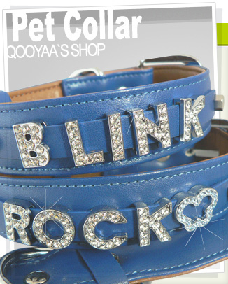 personalize Rhinestones Letter dog collar 14mm