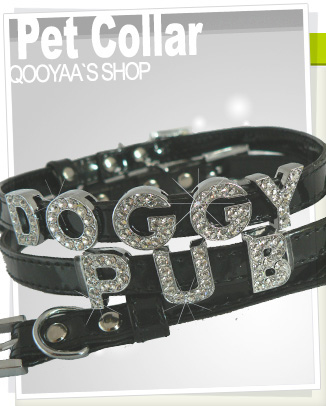personalize Rhinestones Letter dog collar