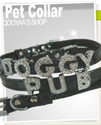 personalize Rhinestones Letter dog collar