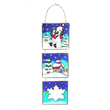 Glass Printed Hanging Ornaments