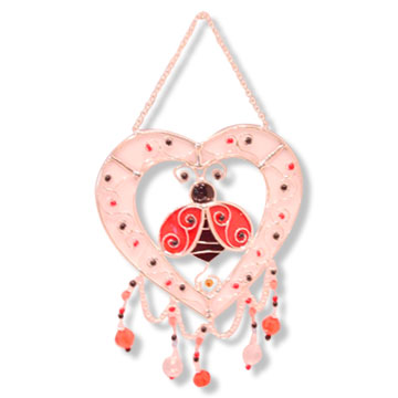 Wind Chime With Heart Designs