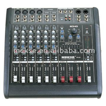 8 Channel Stereo Powered Mixers