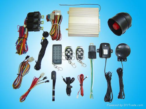 Intelligent GSM Car alarm system with car phone carrier