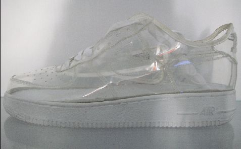 clear nike air force ones
