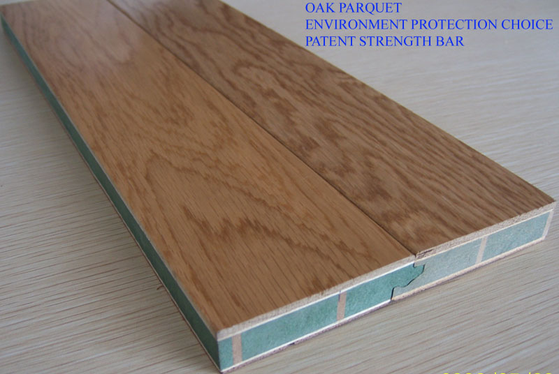 sell oak parquet with strength bar as patent